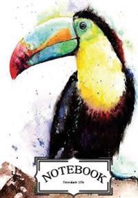 "Notebook: Toco Toucan Bird: Notebook Journal Diary, 120 Lined Pages, 7"" X 10"""