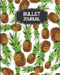 Bullet Journal: Pineapple Cover - 150 Pages Size 8x10 Blank Notebook 1/4 Dotted Pages - Bullet Journal Notebooks: Bullet Journal Noteb