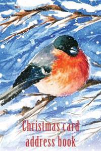Christmas Card Address Book: An Address Book and Tracker for the Christmas Cards You Send and Receive - Bullfinch Cover