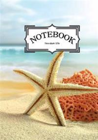 Notebook: Seashells and Starfishes Vol.8: Notebook Journal Diary, 120 Lined Pages, 7 X 10