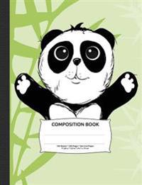 "Panda Bear Composition Notebook, Dotted Grid Journal Paper: 250 Numbered Pages, 9-3/4"" X 7-1/2"""