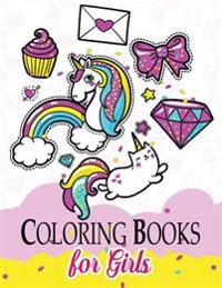 Coloring Books for Girls: Unicon Fairy Fastasy Patterns for Girl