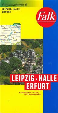Falk Regionalkarten Deutschland Blad 9: Leipzig, Erfurt, Halle