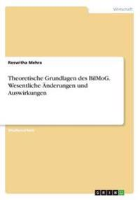 Theoretische Grundlagen Des Bilmog. Wesentliche Anderungen Und Auswirkungen