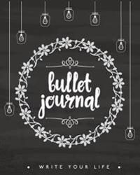 Bullet Journal Dot Grid for 90 Days, Numbered Pages Quarterly Journal Diary, Flower Chalkboard Art Design for Women: Large Bullet Journal 8x10 with 11