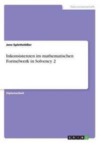 Inkonsistenzen Im Mathematischen Formelwerk in Solvency 2