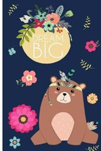 Dream Big: 110 Pages Ruled - Notebook, Journal, Diary, Black Dots (Large,6 X 9) (Inspirational Notebooks)