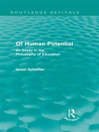 Of Human Potential (Routledge Revivals)