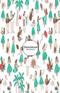 Sketchbook: Art Wallpaper 32 100+ Pages of 5.5 X 8.5 Blank Paper for Drawing, Sketching (Sketchbooks)