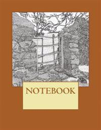 Notebook: Drystone Wall, Rydal Water, Lake District. Squared (8.5 X 11): Squared Paper Notebook