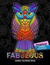 Fabulous Animals Coloring Book: Patterns of Bear, Parrot, Squirrel, Lion, Tiger, Koala, Monkey, Cats, Giraffe, Panda, Sloth and More