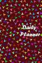 Daily Planner: Red Art Work, Diary Note Book, Office Appointment, Day Plan to Do List, Plan Your Work, Student School Schedule, Fitne
