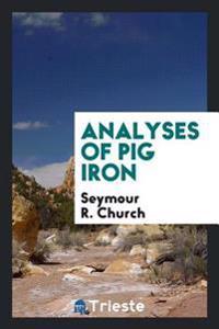 Analyses of Pig Iron