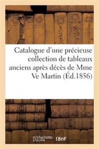 Catalogue D'Une Precieuse Collection de Tableaux Anciens Apres Deces de Mme Ve Martin
