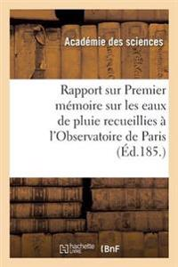 Rapport Sur Un Travail de M. Barral