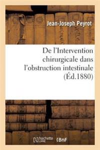de L'Intervention Chirurgicale Dans L'Obstruction Intestinale