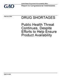 Drug Shortages, Public Health Threat Continues, Despite Efforts to Help Ensure Product Availability: Report to Congressional Addressees.
