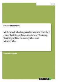 Mehrwiederholungskrafttest Zum Erstellen Eines Trainingsplans. Anamnese, Testung, Trainingsplane Makrozyklus Und Mesozyklus