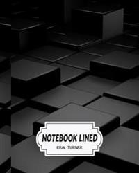Notebook Lined: Black 3D: Notebook Journal Diary, 120 Lined Pages, 8 X 10