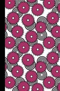 Journal: Spirals and Flowers (Pink) 6x9 - Graph Journal - Journal with Graph Paper Pages, Square Grid Pattern
