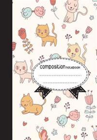 Composition Notebook, 8.5 X 11, 110 Pages: Cute-Cats: (School Notebooks)