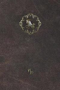 Monogram Capricorn Notebook: Blank Diary Journal Log Notebook