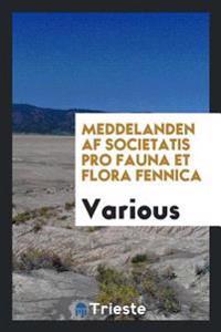 Meddelanden af Societatis pro Fauna et Flora Fennica