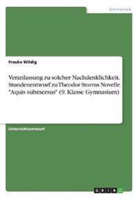 """Veranlassung zu solcher Nachdenklichkeit. Stundenentwurf zu Theodor Storms Novelle """"Aquis submersus"""" (9. Klasse Gymnasium)"""