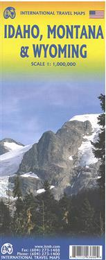 Idaho,Montana & Wyoming Travel Reference Map 1 : 1 000 000