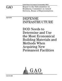 Defense Infrastructure: Dod Needs to Determine and Use the Most Economical Building Materials and Methods When Acquiring New Permanent Facilit