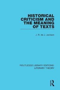 Historical Criticism and the Meaning of Texts