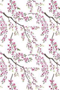 Sakura Journal: Watercolor Cherry Blossom 6x9 Medium Lined Journaling Notebook
