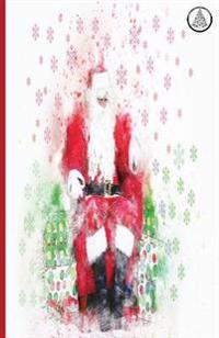 White Christmas Journals: Christmas Notebook Holiday Journal Lined Paper 100 Pages 5.06x7.81 Matte Cover Finish Santa Clause Portrait