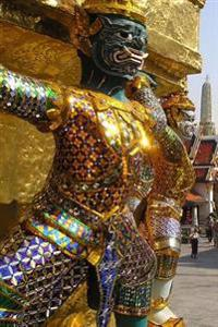 Cool Golden Temple Guardian Bangkok Thailand Travel Journal: 150 Page Lined Notebook/Diary