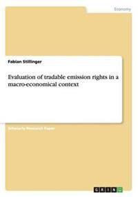 Evaluation of Tradable Emission Rights in a Macro-Economical Context