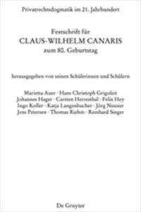 Privatrechtsdogmatik Im 21. Jahrhundert: Festschrift Fur Claus-Wilhelm Canaris Zum 80. Geburtstag