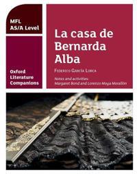Oxford literature companions: la casa de bernarda alba: study guide for as/