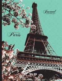 Eiffel Tower, Paris Journal - Unruled Blank Paper: 8.5 X 11 Notebook, Teal, Black, Brown