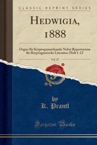Hedwigia, 1888, Vol. 27