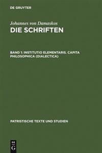 Institutio Elementaris. Capita Philosophica (Dialectica)