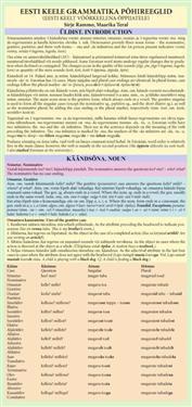 Eesti keele grammatika põhireeglid. eesti keelt võõrkeelena õppijatele