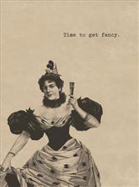 Fancy-Dress Lady. 6 Cards, Individually Bagged with Envelopes