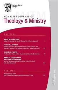 Mcmaster Journal of Theology and Ministry 2015-2016