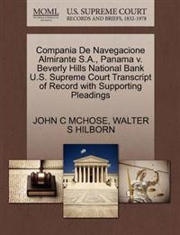 Compania de Navegacione Almirante S.A., Panama V. Beverly Hills National Bank U.S. Supreme Court Transcript of Record with Supporting Pleadings