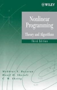 Nonlinear Programming 3e