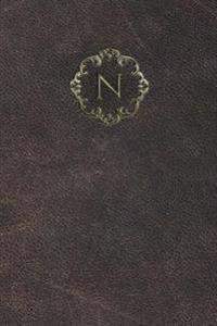 """Monogram """"N"""" Blank Book"""