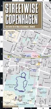 Streetwise Copenhagen Map - Laminated City Center Street Map of Copenhagen, Denmark