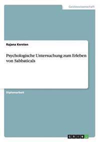 Psychologische Untersuchung Zum Erleben Von Sabbaticals