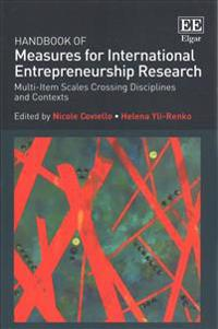 Handbook of Measures for International Entrepreneurship Research