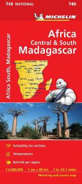 Africa CentalSouth, Madagascar - Michelin National Map 746